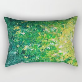 LAKE GRASS - Original Acrylic Abstract Painting Lake Seaweed Hunter Forest Kelly Green Water Lovely Rectangular Pillow