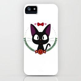 Little Black Cat iPhone Case