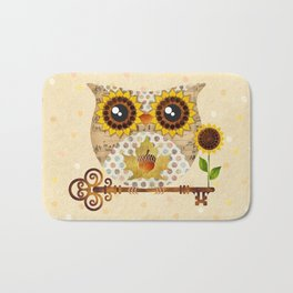Owl's Autumn Song Bath Mat