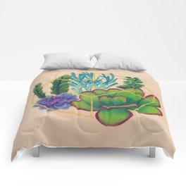 Geometric Terrarium 2 Acrylic on Wood Painting Comforters