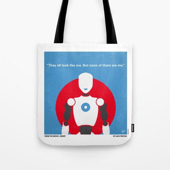No275 My I ROBOT minimal movie poster Tote Bag