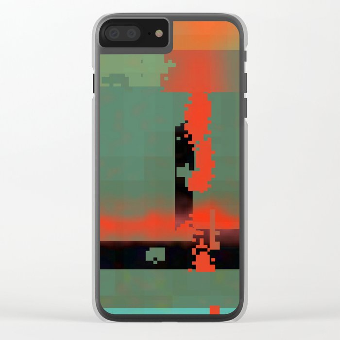 my own stream of code... Clear iPhone Case