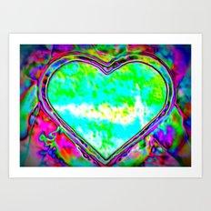 Melting Heart Art Print