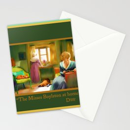 Victorian Day with Cat and Dog (The Misses Boylston) Stationery Cards