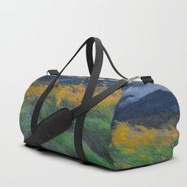 Louis Patru - Landscape - 1895-1905 Wheat Field blowing Wind Storm Clouds Duffle Bag
