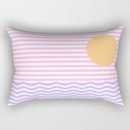 Coastline (Sunset Pink) Rectangular Pillow