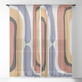 Reverse Shapes II Sheer Curtain