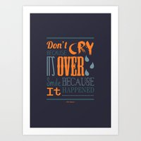 dr seuss Art Prints featuring Dr. Seuss Quote  by Robert Woods
