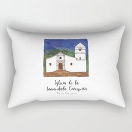 Iglesia de la Inmaculada Concepcion Rectangular Pillow