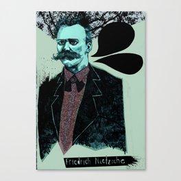 Friedrich Nietzsche: The Man, The Myth, the Moustache Canvas Print