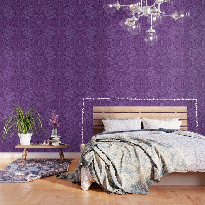 Lavender Spiral Pattern Wallpaper