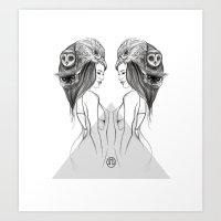 Mirrored Bird is the Word Art Print