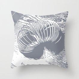 slinky grey Throw Pillow
