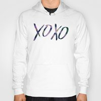 xoxo Hoodies featuring XOXO by Leah Flores