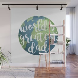 World's Greatest Dad Wall Mural