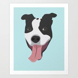 Smiley Pitbull Art Print