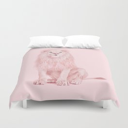 PINK LION Duvet Cover