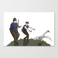 hot fuzz Canvas Prints featuring Hot Fuzz  by margaw