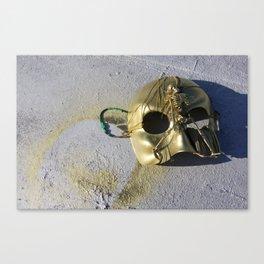 Gold Skeleton Mask, No. 1 Canvas Print