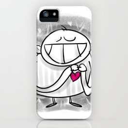 Everything with Love - Happyman iPhone Case