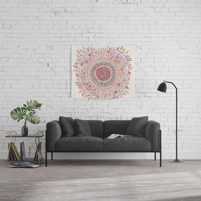 Sunflower Mandala Wall Tapestry