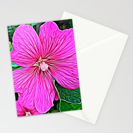 Pink Flowers of Diamond Essence Stationery Cards