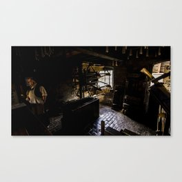 Candle maker Canvas Print