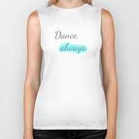 workout Biker Tanks featuring Workout Collection: Dance, always. by Kat Mun