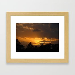 Sunset on the Farm Framed Art Print