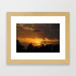 Sunset on the Farm Framed Art Print