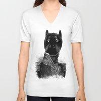 bdsm V-neck T-shirts featuring BDSM XXXVII by DIVIDUS