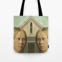Gay American Gothic - LGBT Marriage Equality Tote Bag
