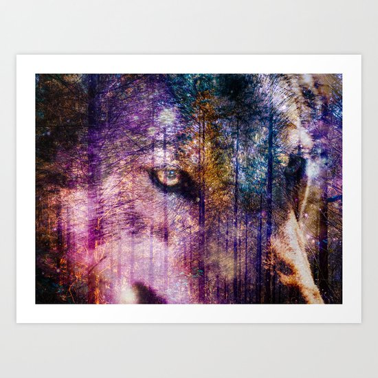 Wolf Forest : These Are My Forests Art Print
