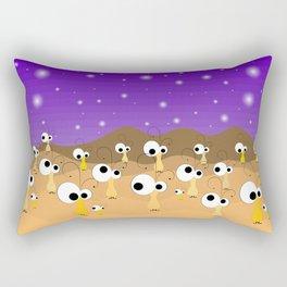 Little aliens Rectangular Pillow