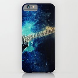 Electric Blue Guitar iPhone Case