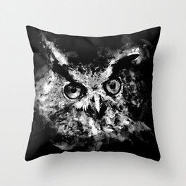 owl perfect black white Throw Pillow