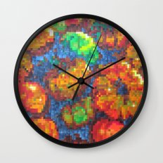 Tomatoes on pixel Wall Clock