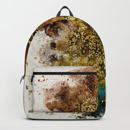 Abstract Watercolor Grunge Splashes Modern Painting Backpack