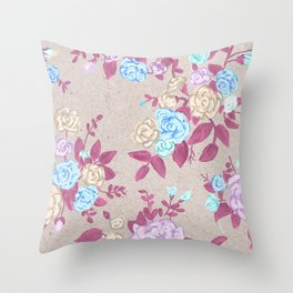 Flower powerz Throw Pillow