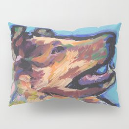 fun ROUGH COLLIE bright colorful Pop Art painting by Lea Pillow Sham