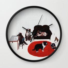 Damn Dogs Wall Clock