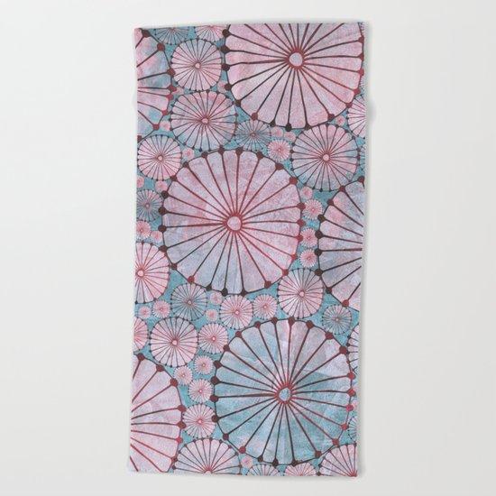 Abstract Floral Circles 3 Beach Towel