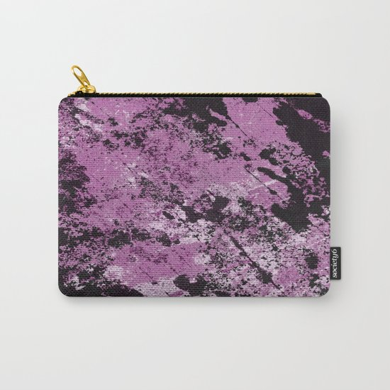 Abstract Texture Deux - Purple, White and Black Carry-All Pouch