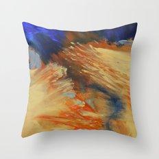 Burning River Throw Pillow