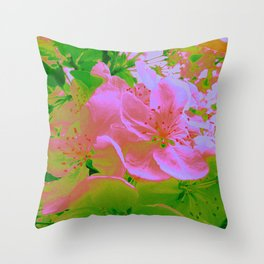 Pink Passion Crabapple Throw Pillow