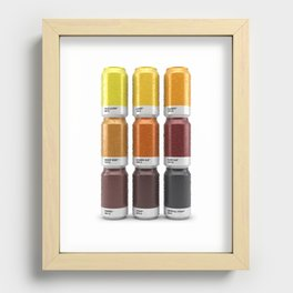 Beer colors Recessed Framed Print