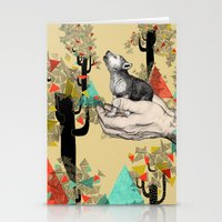 power Stationery Cards featuring Found You There  by Sandra Dieckmann