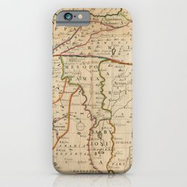Vintage Map Print - Map of the Middle East: Turkey, Syria, Iraq, Israel etc. (1712) iPhone Case