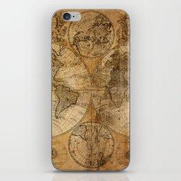 World Map 1746 iPhone Skin
