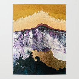 TIDAL WAVE | Abstract acrylic art by Natalie Burnett Art Poster